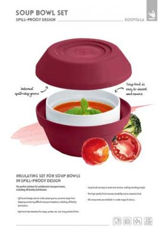 HEPP Hospitala Soup Bowl Set spill-proof